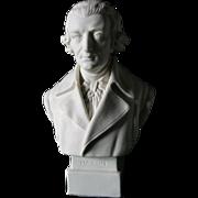 Parian Porcelain Bust Austrian Composer Joseph Haydn, Robinson & Leadbeater