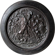 Antique Plaque with Roman Greek Mythological Scene