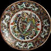 Antique Chinese Export Thousand Butterflies Porcelain Plate