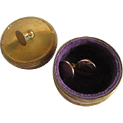 c1900 Velvet Lined Cuff Link, Stud Jewelry Box