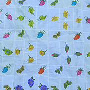 Pretty Vintage Flower & Butterfly Quilt Top
