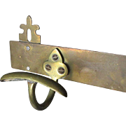 c1910s Architectural Hooks,  Brass Hat Rack, Coat Rack