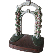 Art Deco  c1936 Rose Trellis Cast Iron Doorstop by Judd