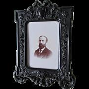 Rare Antique c1850s Gutta Percha Thermaplast Picture Frame
