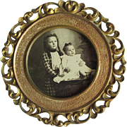 c1910s Art Nouveau Picture Frame, Mirror Frame with Water Lilies