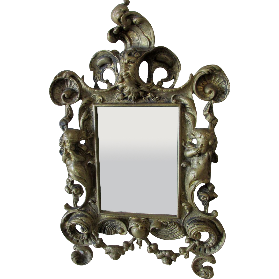 Antique Mythological Mirror Picture Frame With Mermaid