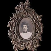 Antique Art Nouveau Picture Frame, Mirror Frame, Calla Lily Flowers