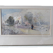 Early 1800s Impressionistic Watercolor Painting, Listed Artist David Cox