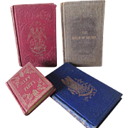 4 Circa 1840-1850s Miniature Books, Heaven, Notable Woman, Household Recipes