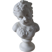 Antique Parian Porcelain Bust of a Young Girl, Season of Spring