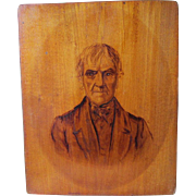 Antique c1856 Folk Art Plaque, Portrait of T Withington Esq.,  Dorchester