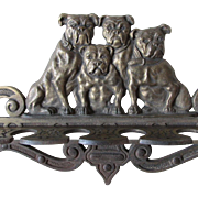 Pipe Display, Pipe Rack with Bulldog Motif, Canine Dog Pipe Holder