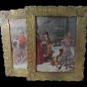Lovely Pair of Large Art Nouveau Picture Frames, Mirror Frames