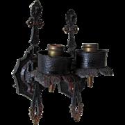Pair Arts & Crafts Light Sconces,  Hammered, Spanish Mission Design