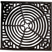 Antique Architectural Element, Cast Iron Grate with Star Motif