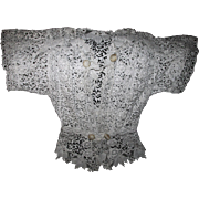 Fine Antique c1870s European  Lace Blouse, Hand Made Wedding Dress, Blouse