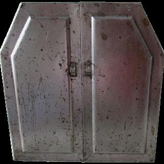 Antique Metal Spice Cabinet, Industrial, Kitchen or Bathroom Cupboard