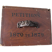 Antique c1879 Primitive Box for Petitions, Dovetailed