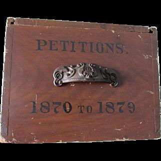 Antique c1879 Primitive Box for Petitions, Dovetailed