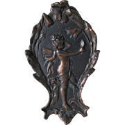 Antique Art Nouveau Fairy Angel Plaque, Advertising Premium