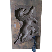 Antique Carved Architectural Mold of Gargoyle, Rampant Lion