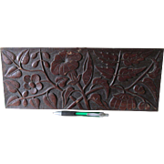 Antique Hand Carved Wood Architectural Element, Decorative Plaque