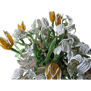 Bouquet of Old Beaded Flowers with Tulips & Lily Flowers
