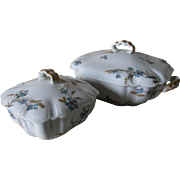 Antique Haviland Limoges, Covered Serving Tureen & Butter Dish