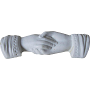 Victorian Bisque Joined Hands Wedding Cake Topper
