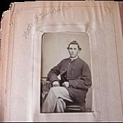 Antique Family Photograph Album with Civil War Photos
