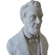 Antique Parian Porcelain Bust of Abraham Lincoln by Robinson Leadbeater