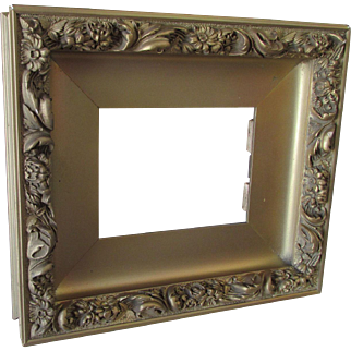 Deep Antique Painting, Picture or Mirror Frame with Floral Motif