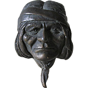 Vintage Native American Bronze Sculpture, Signed L. Lubeski