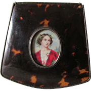 19thC Antique Hand Painted Miniature of a Lovely Lady