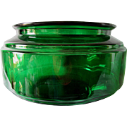 Rare c 1930s Art Deco Emerald Green Glass Fish Bowl, Aquarium