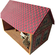 Old Converse Wood Barn, Stable Doll House, Miniature Building