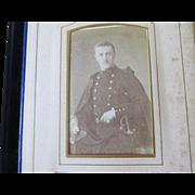 Antique c1880s French Victorian Carte de Viste Photograph Album