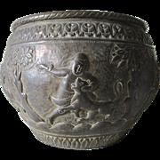 Antique Hand Made  Ethnographic Bronze, Brass Jardiniere, Planter