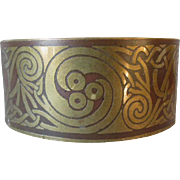 Arts & Crafts, Art Nouveau Mixed Metal Cuff, Bangle Bracelet