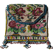 Antique Beaded Pouch, Handbag, Ethnographic or European