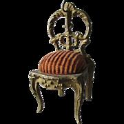 Antique Miniature Victorian Chair Pocket Watch Holder, Jewelry Display