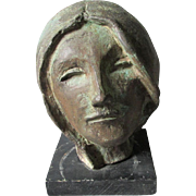 Lovely Vintage Bronze Sculpture of a Lady with Long Hair