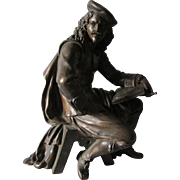 Antique Bronze Sculpture of an Artist, Listed French Artist, Leon Pilot