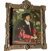 Renaissance Print of  Merchant Georg Gisze by Holbein, Great Frame