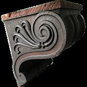 Antique Architectural Hand Carved Oak Corbel, Shelf Bracket