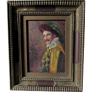 c1910 Oil Painting of an Amused Gentleman, Listed Artist Michel Jacobs