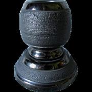 Antique Folk Art Carved Coal Match Safe, Desk Accessory, Match Strike