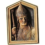 c1908 Plaque of Saint Thomas Becket Archbishop of Canterbury