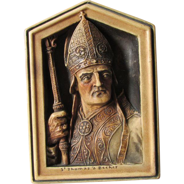c1908 Plaque of Saint Thomas Becket Archbishop of Canterbury