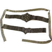 c1920s Art Deco Beaded Belts and Rhinestone Trim, Jazz Age